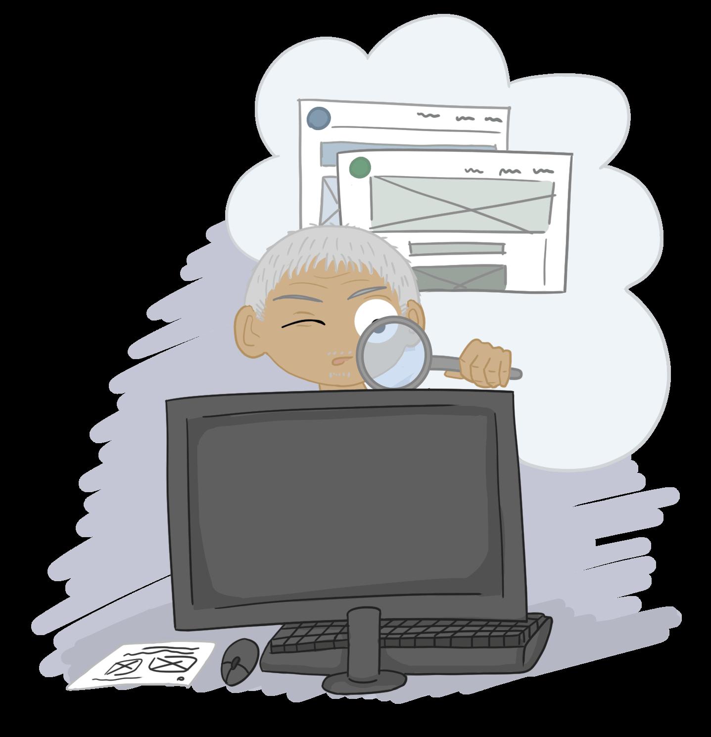 seo og design cartoon