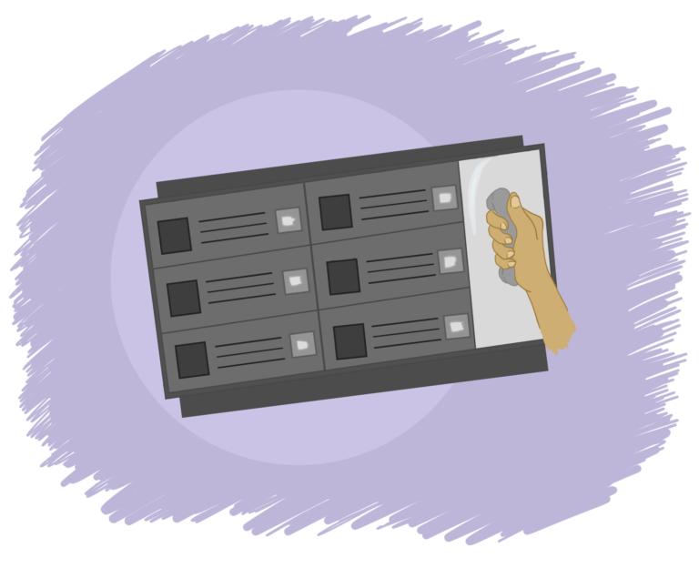 rack hosting skabe
